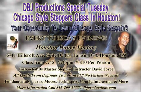 Chicago Steppers Class -Tuesdays, Houston