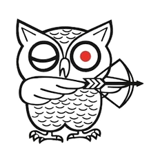 Japn Machine Tools Corp Logo (owl w/ bow & arrow)