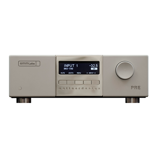EMM LABS⎮ PRE Référence - Stereo Preamplifier