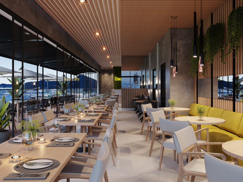 Restaurante no topo com acesso exclusivo