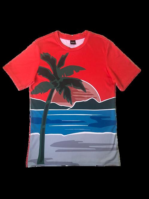 T Shirt Coqueiro Hugo Boss
