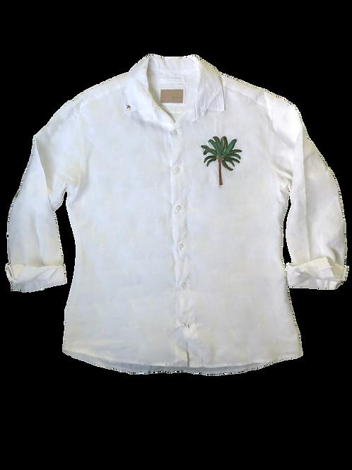 Camisa Bordado Coqueiro Água de Côco