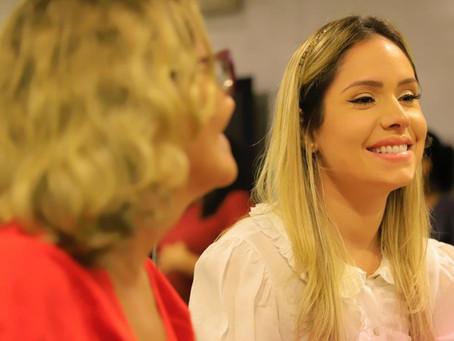 Thyane Dantas participa de ação solidária em prol ao combate do câncer de mama