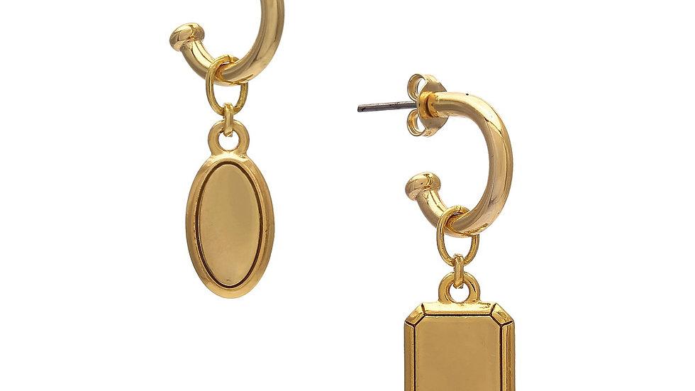 Argola Duo Mini Medalhas