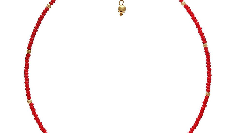 Choker Mini Missanga vermelha
