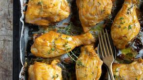 Pollo alla senape, miele e timo