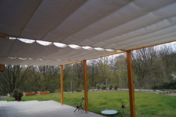 Jak zastínit terasu v létě , dřevěná pergola s rovnou střechou Náchod