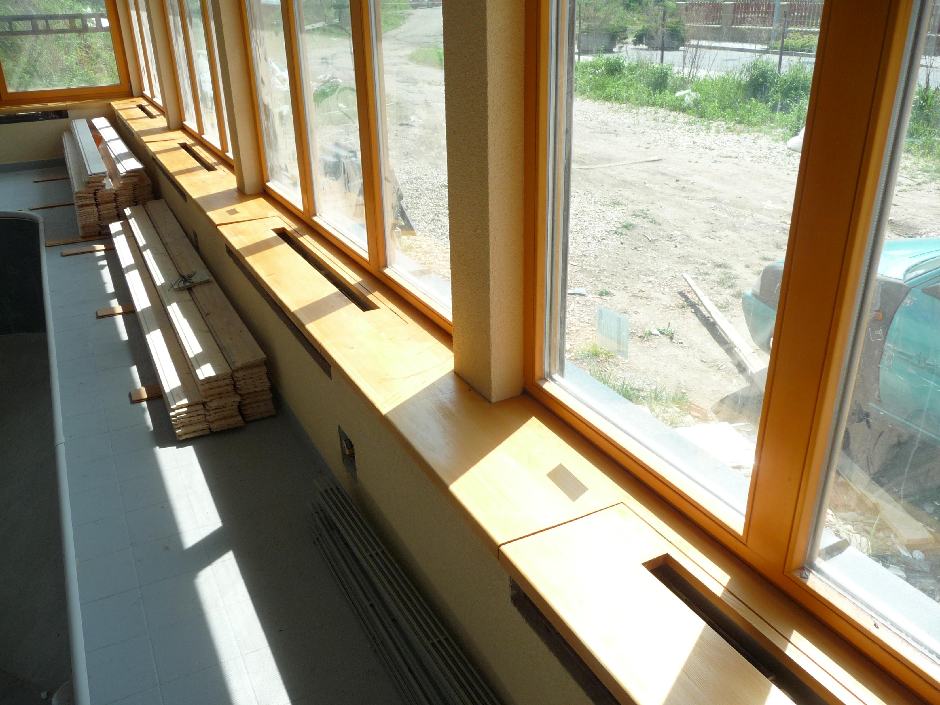 Dřevěné parapety na míru