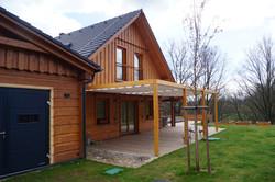 Zastínění dřevěné terasy na klíč Náchod
