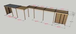 3D vizaulizace pergoly Nymburk