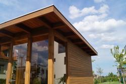 Přesah střechy sauny Zlatý Hamr