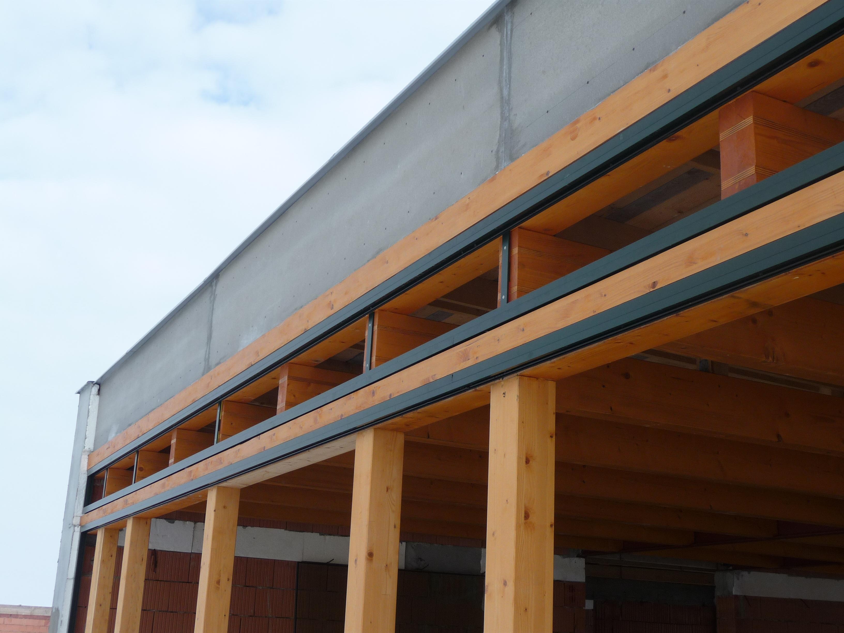 Dřevěná konstrukce fasády
