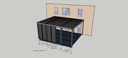 3D vizualizace dřevěné pergoly Praha