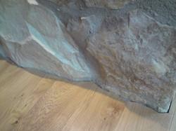 Detail ukončení dubové podlahy