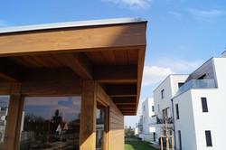 Střešní konstrukce venkovní sauny s plochou střechou svařovaná PVC střešní fólie FATRAFOL Praha