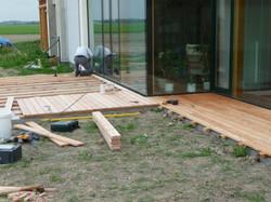 Montáž modřínové terasy