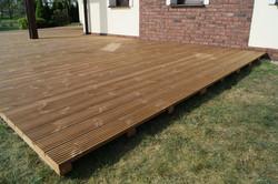 Dřevěná terasa na klip