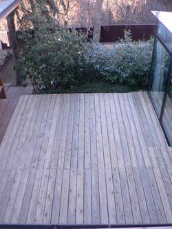Dřevěná terasa Poděbrady