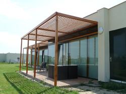 Moderní dřevěná pergola Nymburk
