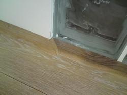 Detail lištování dřevěné podlahy