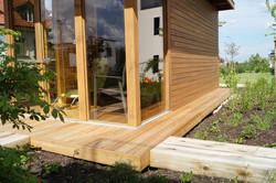 Prosklená odpočívárna  sauny Zlatý Hamr Jánské Lázně