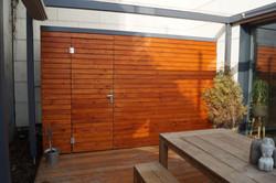 Zastínění dřevěné terasy