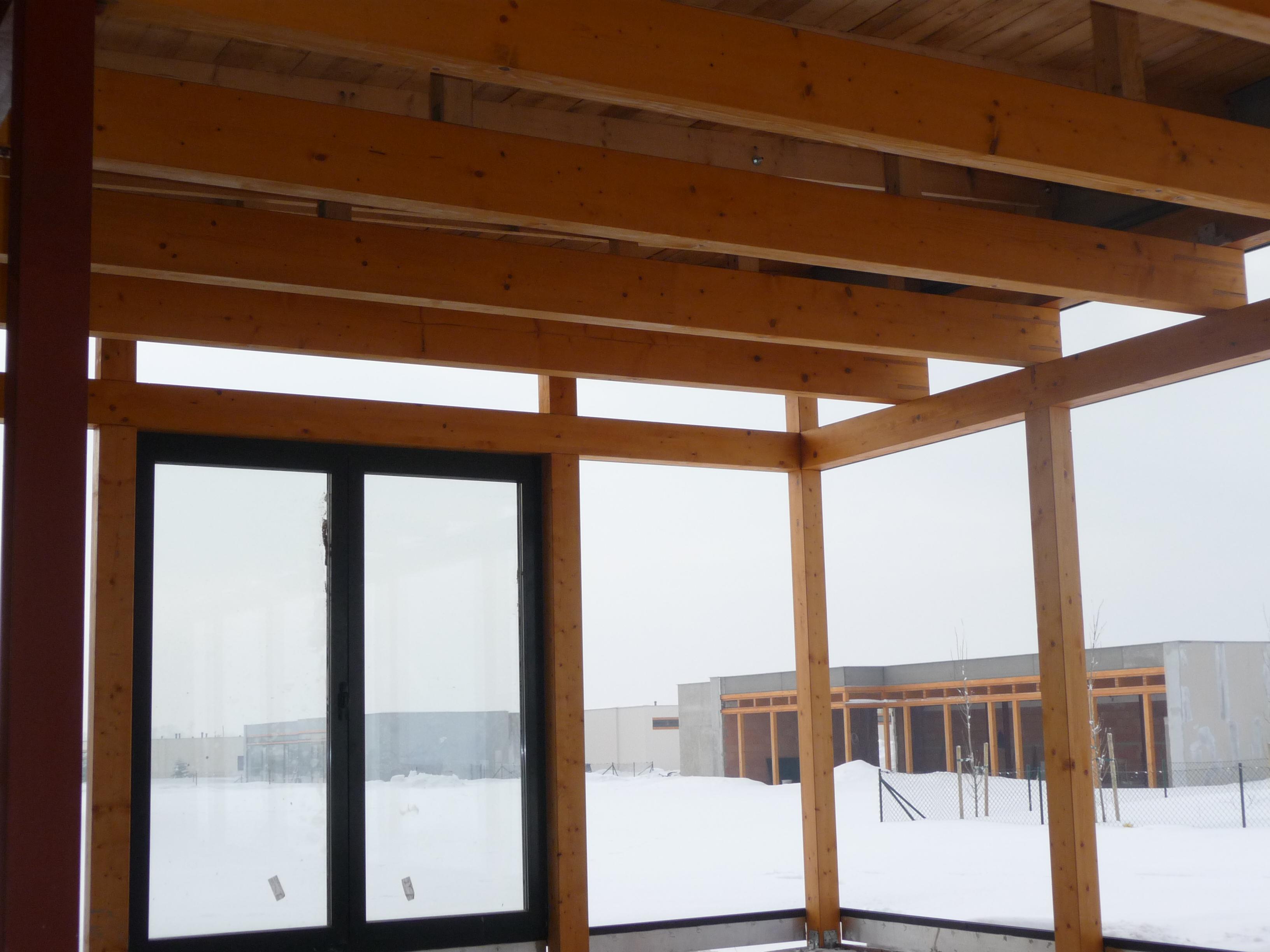 Dřevěná konstrukce dřevostavby v kvalitě
