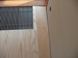 Přesné ukončení podlahy-konvektor