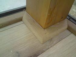 Inspirace lištování dřevěný sloupek