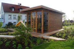 Venkovní sauna v moderním designu Praha