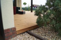 Zalištování dřevěné terasy