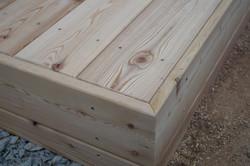 Detail dřevěné terasy