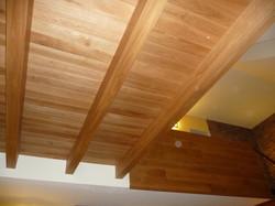 Trámový strop dub přírodní olej