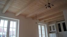 Masivní rustikální trámový strop ..... aneb příběh o cestě dřeva 1.