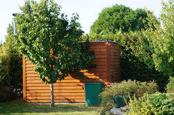 Venkovní sauna ze dřeva