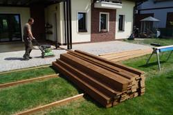 Dřevěná terasa thermowod Nymburk Sokoleč