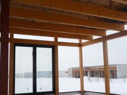 Interiér dřevostavby Nymburk