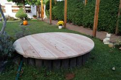 Dřevěný poklop na studnu