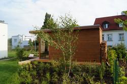 Venkovní sauna dle skvělého návrhu zahradní arch.Ing. Terezy Mácové