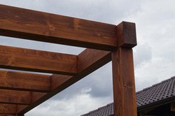 Dřevěná pergola konstrukční spoje