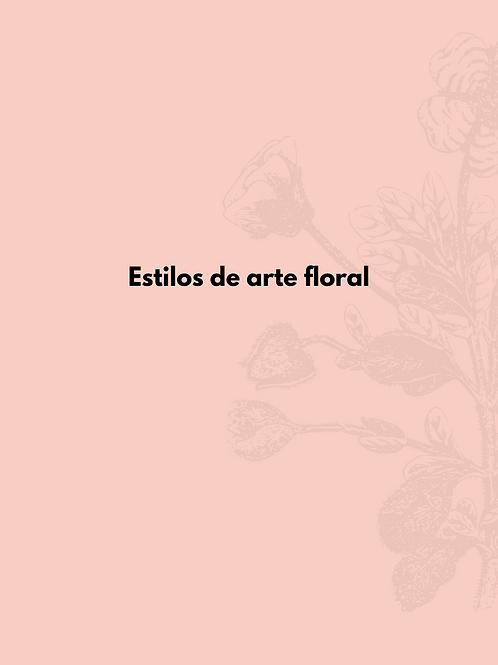 Guía Estilos de arte floral