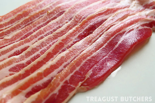 BACON SMOKED STREAKY 454g /1lb ℮