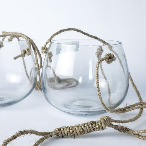 57002377 - GLASS HANGING VASE -  - GARDEN / YARD