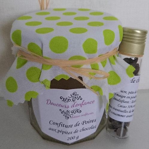 Confiture poire/pépites de chocolat 200 g