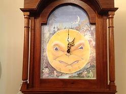 hand p[ainted fantasy clock face for Hickory Dickory Clock