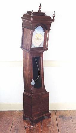 animated grandfather clock, walnut