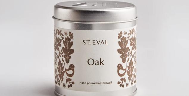 Oak, Folk Scented St. Eval Tin Candle
