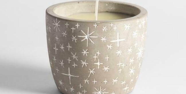 Winter Thyme scented star pot candle