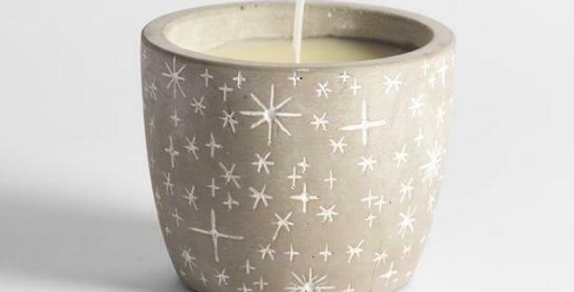 Orange & Cinnamon scented star pot candle