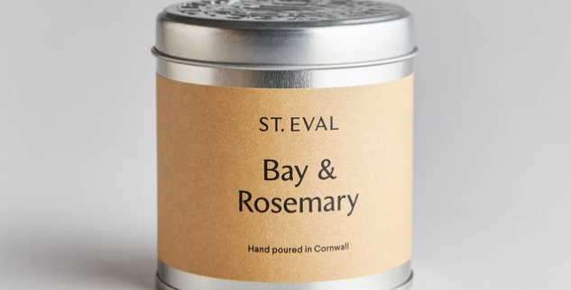 Bay & Rosemary Scented St. Eval Tin Candle